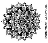 mandalas for coloring book.... | Shutterstock .eps vector #666391006