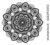 mandalas for coloring book.... | Shutterstock .eps vector #666391042