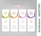 infographic template of four... | Shutterstock .eps vector #666397405