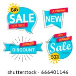 set of modern sale  discounts... | Shutterstock .eps vector #666401146