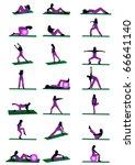 silhouettes of sport | Shutterstock .eps vector #66641140
