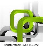 square vector background  3d... | Shutterstock .eps vector #666413392