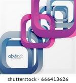 square vector background  3d... | Shutterstock .eps vector #666413626