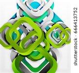 square vector background  3d... | Shutterstock .eps vector #666413752