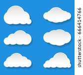 messages clouds icon. weather... | Shutterstock . vector #666414766