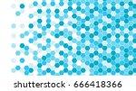 Abstract background of blue hexagons, vector design. | Shutterstock vector #666418366