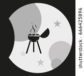 bbq icon. grill illustration. | Shutterstock .eps vector #666425896