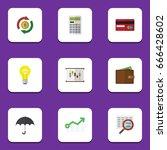 flat icon finance set of... | Shutterstock .eps vector #666428602