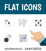 flat icon play set of ace ... | Shutterstock .eps vector #666428836