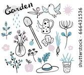 vector hand drawn illustrations ... | Shutterstock .eps vector #666431536