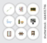 flat icon lifestyle set of... | Shutterstock .eps vector #666431746