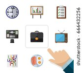 flat icon lifestyle set of... | Shutterstock .eps vector #666432256