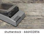 crack vhs rewinder with video... | Shutterstock . vector #666432856