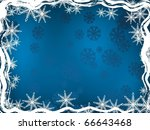 blue winter background. holiday ... | Shutterstock .eps vector #66643468