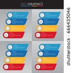 set of presentation business...   Shutterstock .eps vector #666435046