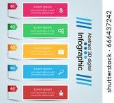 3d infographic design template... | Shutterstock .eps vector #666437242
