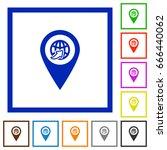 international route gps map...   Shutterstock .eps vector #666440062