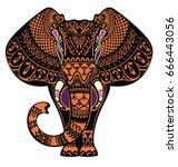 elephant   Shutterstock .eps vector #666443056