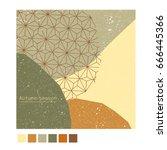 autumn poster background banner ... | Shutterstock .eps vector #666445366