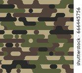 camouflage irregular rounded... | Shutterstock .eps vector #666445756