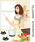 housewife vector without... | Shutterstock .eps vector #66644731