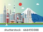 amazing tourist attrations for...   Shutterstock .eps vector #666450388