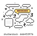 set of design elements  message ... | Shutterstock .eps vector #666453976