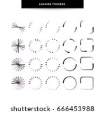 big set of icons downloads and... | Shutterstock .eps vector #666453988