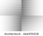 abstract halftone dotted... | Shutterstock .eps vector #666454318