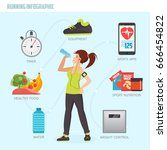 running concept infographic.... | Shutterstock .eps vector #666454822
