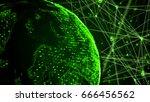 global technology concept... | Shutterstock . vector #666456562