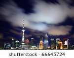 night in shanghai | Shutterstock . vector #66645724