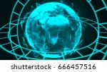 technology concept abstract... | Shutterstock . vector #666457516
