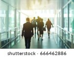 blur people walking in the... | Shutterstock . vector #666462886