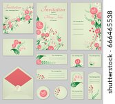 collection greeting cards with... | Shutterstock .eps vector #666465538