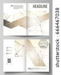 business templates for bi fold... | Shutterstock .eps vector #666467038