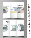 tri fold brochure business... | Shutterstock .eps vector #666467128