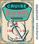 nautical poster with sample... | Shutterstock .eps vector #666468988