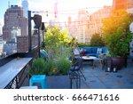 new york city rooftop   Shutterstock . vector #666471616