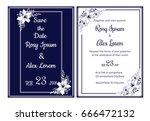 wedding invitation card... | Shutterstock .eps vector #666472132