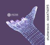 human arm. hand model.... | Shutterstock .eps vector #666476095
