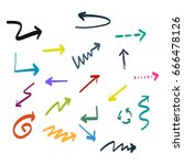 arrow doodle | Shutterstock .eps vector #666478126