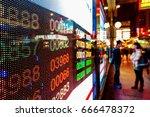 stock market charts | Shutterstock . vector #666478372