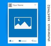 social network photo frame... | Shutterstock .eps vector #666479452