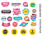 sale shopping banners. sale... | Shutterstock .eps vector #666480382