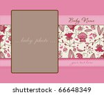 baby girl arrival card with... | Shutterstock .eps vector #66648349
