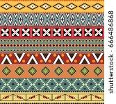 aztec seamless pattern. vector.   Shutterstock .eps vector #666486868