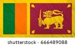 flag of sri lanka | Shutterstock . vector #666489088