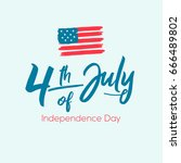 fourth of july  united stated...   Shutterstock .eps vector #666489802