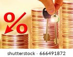 the percent symbol and keys in...   Shutterstock . vector #666491872
